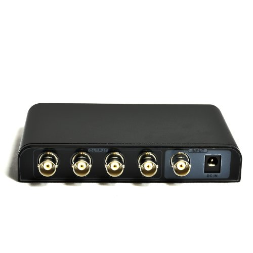 OREI SDI-104 1x4 Powered SDI Splitter - Supports HD-SDI, SD-SDI and 3G-SDI Signals (1 input, 4 outputs) (Sdi Amplifier)