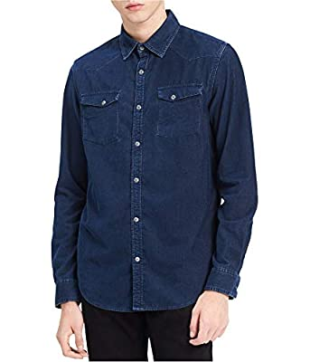 Calvin Klein Jeans Mens Corduroy Long Sleeve Western Shirt