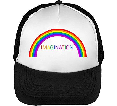 Negro Rainbow Beisbol Hombre Blanco Snapback Gorras Imagination 1HOqpwBAq