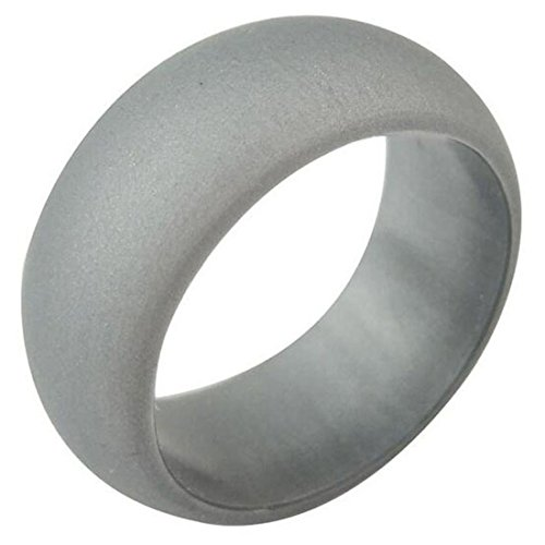 Silver Gold Camo Silicone Wedding Ring For Men Women Metal Look Silicone Rubber Band
