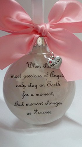 Baby Girl Memorial Ornament - The Most Precious of Angels w/ Charm - In Memory of Infant Loss Sympathy Gift