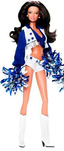 Barbie Collector 2008 Pink Label - Pop Culture Dolls Collection - Dallas Cowboys Cheerleader - Brunette Latina Doll