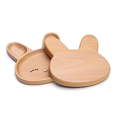 XDOBO Natural Beech Wood Serving Dishes - Handmade Mini Dessert Plates - Safe and Eco-friendly