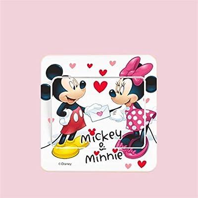 Extraíble 6 ESTILO Mickey Mouse Minnie interruptor de pared ...