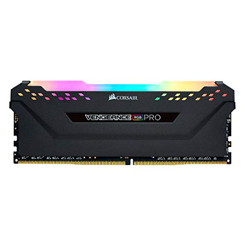 Corsair Vengeance RGB Pro 32GB (2x16GB) DDR4 2933 (PC4-23400) C16 Desktop Memory - Black PC Memory CMW32GX4M2Z2933C16
