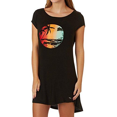 Rip Curl Tropical Dress - Vestido para mujer, color negro, talla S Negro (Black)