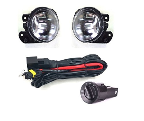 FRONT FOG LIGHTS LAMPS L/R + WIRING + HEADLIGHT SWITCH unbranded