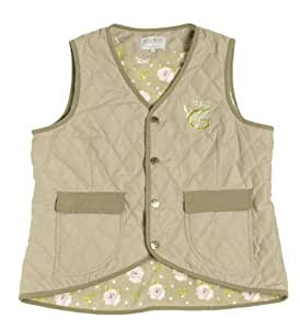 Garden Girl USA Quilted Vest, Medium, Beige