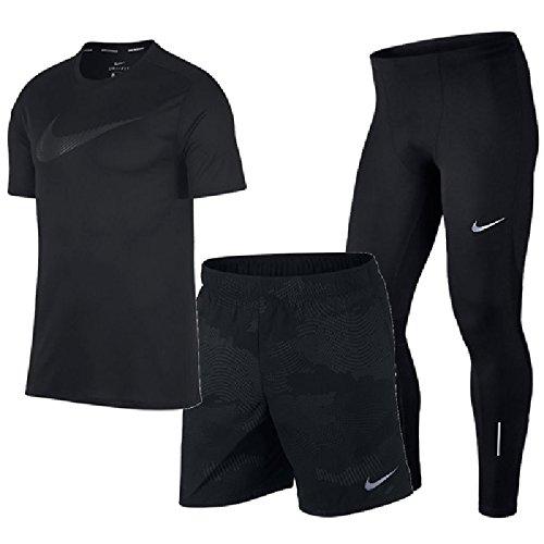 エンドテーブルペルー変化ランニングウェア 3点セット メンズ ナイキ NIKE Tシャツ 7インチショートパンツ ロングタイツ 男性用 /899503/899505/856887 ランニング ジョギング マラソン トレーニング/NIKEset-U