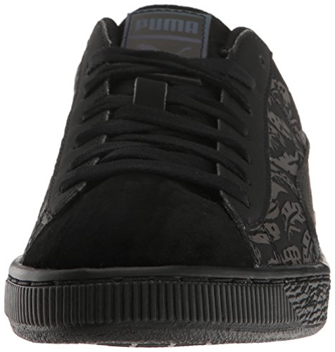 Puma Womens Basket Swan Wns Fashion Sneaker, Black Black, 7.5 M US