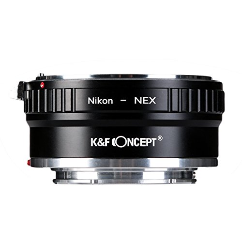 Copper Adapter K&F Concept Lens Mount Adapter Compatible Nikon AI Lens to Sony NEX E-Mount Camera Body