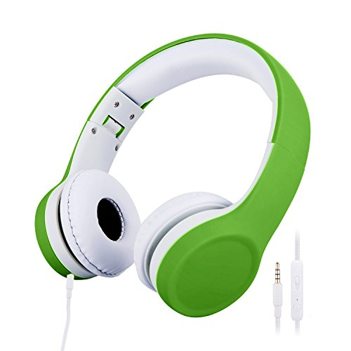 misognare Over-ear Kids Headphones Foldable Wired Headsets for Children (Green)
