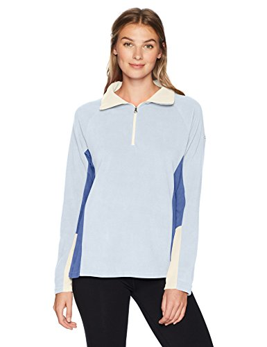 Columbia Women's Glacial IV 1/2 Zip, Faded Sky/Eve, Large