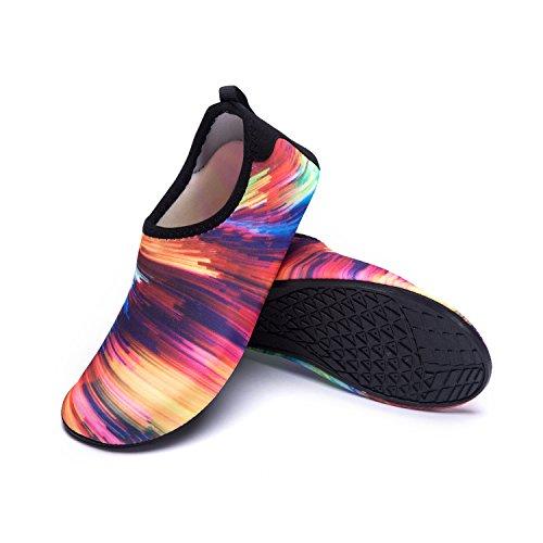 Agua Playa Color Secado Respirable Natación LEKUNI de Zapatos Calzado de Tw Soles de Zapatos multicolor de de LK Piscina Unisex Agua Rápido W6TxzqwzH