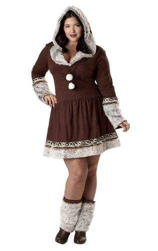 Kiss Costumes For Sale (California Costumes Women's Eskimo Kisses Costume, Brown/White)