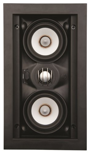 "SpeakerCraft Profile AIM LCR3 Three Dual 3"" 2-Way In-Wall Speaker (Each) Black ASM54631"
