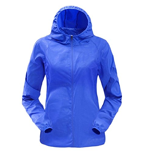 Pure Size Color Quick Sunscreen Women Workout Hooded Jacket Dry Plus Blue Howme Sapphire ORU0Bxqx