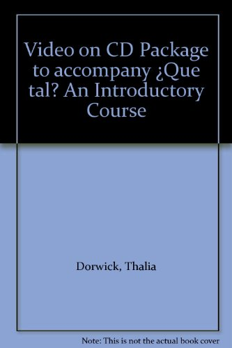 Video on CD Package to accompany Â¿Que tal? An Introductory Course