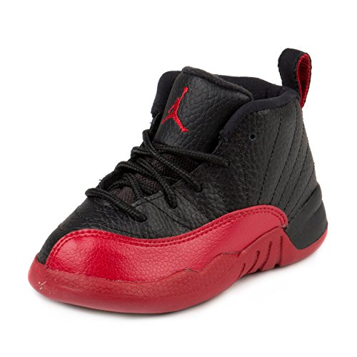 Nike Baby Boys Jordan 12 Retro BT ''Flu Game'' Black/Varsity Red Leather Size 9C by NIKE