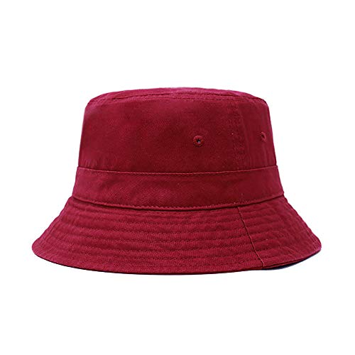(ChoKoLids Cotton Bucket Hat | Packable Summer Travel Hat | Fishing Hat | 7 Colors (Burgundy))