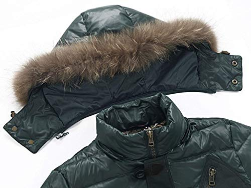 Jacket Armeegrün Comfortable Jacket Coat Coat Winter Collar Parka Jacket Jacket Quilted Down Winter Battercake Windproof Fur Men Men Men Jacket Hooded Jacket Men qwY0x7B