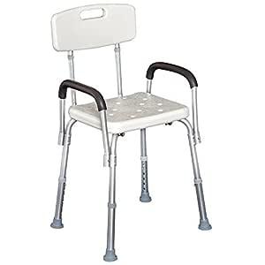 Homcom Silla Tipo Taburete Ortopédico Regulable para Ducha y Baño ...