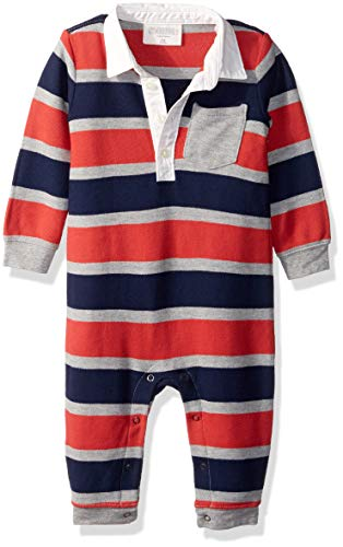 Gymboree Baby Boys Sleeve Long One Piece, red Stripe, 6-12 Mo by Gymboree