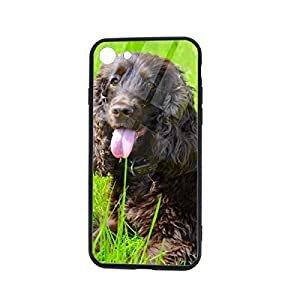 Irish Water Spaniel iPhone 7 /iPhone 8 Compatible Tempered Glass Phone Case Fashion Hard Glass Back Cover 14