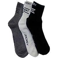 Jockey Men's Solid Ankle Length Socks (Multicolour)