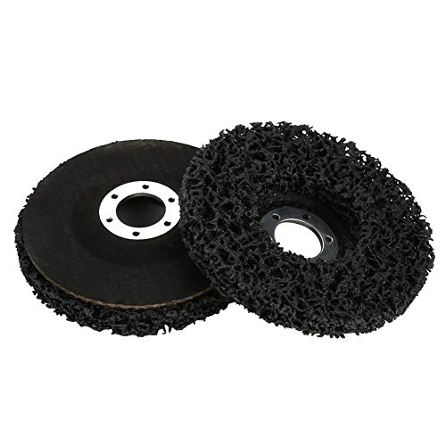 2PCS 115mm Black Poly Strip Wheel Disc Flaking Materials/Paint / Rust Removal Tool Surface Conditioning Clean for Angel Grinders Abrasive (Flaking Paint)