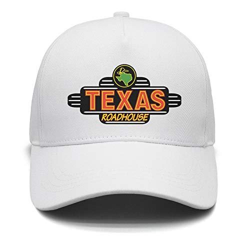 PORWEMV Men Flat Cool Texas-Roadhouse-Logo-Adjustable Mesh Sports Cotton Baseball Cap Hats (Texas Shirt Roadhouse)