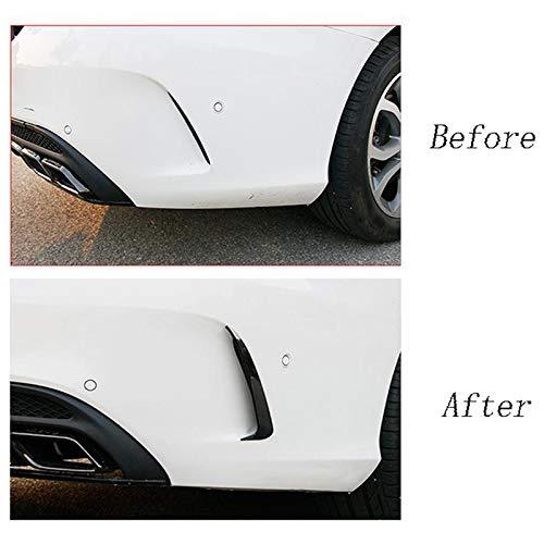 SODIAL Parachoques Trasero Spoiler Air Vent Trim Cover Car Body Stickers Covers Cubiertas para 2015-2019 para C Clase W205 C43 C63 Amg Negro Accesorios para Autos