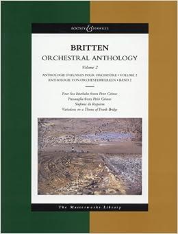 ブリテン: 管弦楽のためのアンソロジー 第2巻/ブージー & ホークス社/大型スコア
