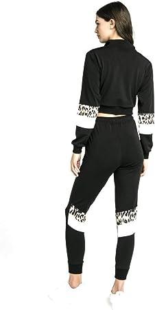 Sik Silk Pantalon con Panel de Leopardo Negro: Amazon.es: Deportes ...