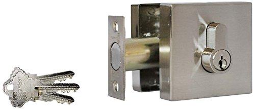 Constructor CON-GUA-DBT-D Guardian Deadbolt Lock Set Double Cylinder, Satin Nickel