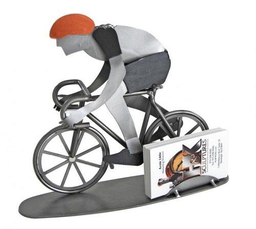 Bike Rider Business Card Holder H K Steel Sculpture