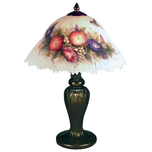 Dale Tiffany 10190 706 Hummingbird Flower Table Lamo, Multi-Color