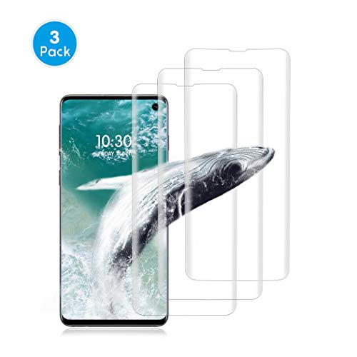 (Samsung Galaxy S10E Screen Protector, [3-Pack] Full Coverage Liquid Skin Screen Protector Case-Friendly Anti-Bubble HD Clear Flexible Film for Samsung Galaxy S10E, Vgkk9)