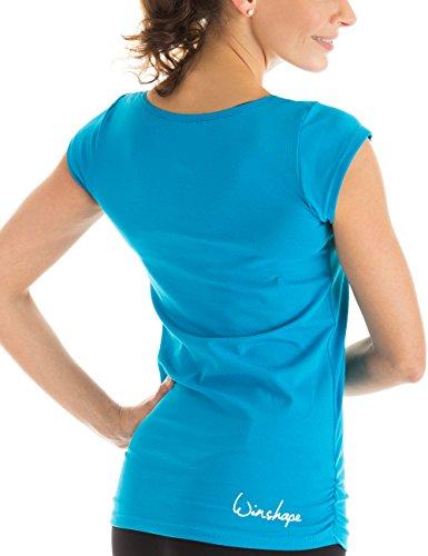 Winshape WTR4 - Camiseta de yoga o entrenamiento para mujer (diseño de manga corta) turquesa - turquesa