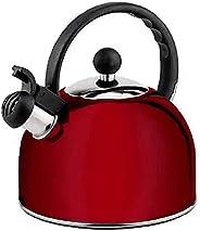 Chaleira Inox, com Apito, Haüskraft, 2 lts, Vermelha, CHLR-006VM