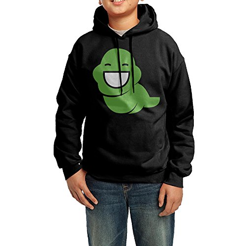 [YHTY Youth Boys/Girls Hoodie Comic Homestuck Logo Black Size L] (John Homestuck Costumes)