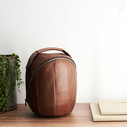 Brown Leather HomePod Travel Case. Handmade Apple Speaker Carrying Cover. Smart Home Speaker Portable Bag Sleeve. Monogrammed Gifts For Him by Capra Leather