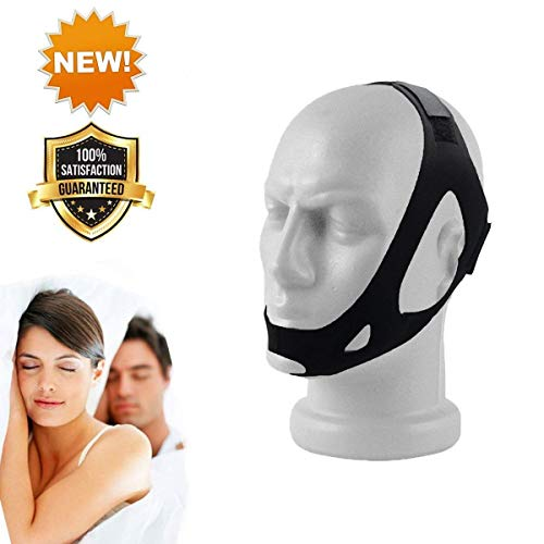 (CPAP Chin Strap for Snoring - Stop Snore - Adjustable Anti Snore Stopper Device - Anti Snoring Aids - Snore Solution)