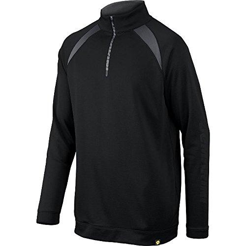 DeMarini Men's 1/2 Zip Heater Fleece Jacket, Black, Large