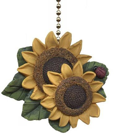 (Clementine Designs Sunflower Ladybug Floral Kitchen Ceiling Fan or Light Pull)