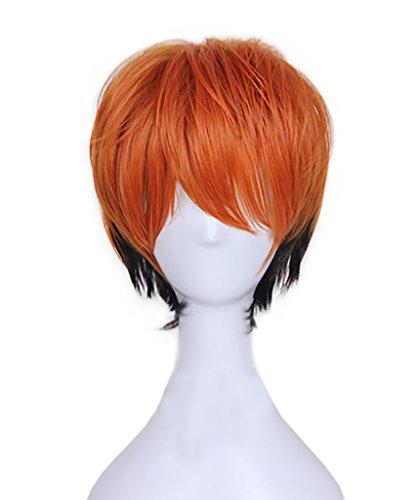 DAZCOS Unisex Fox Nick Wilde Short Wig Cosplay Costume 32CM (Orange)