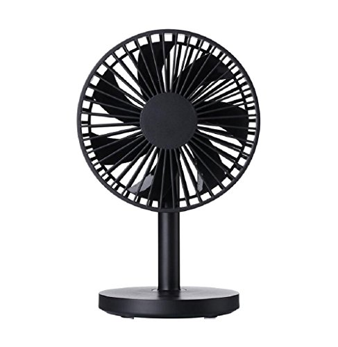 """S'beauty Very Quiet Gigh Quality 5"""" Mini USB Desktop Fan for Office Study Bedroom Library Baby Bed,3 Speed and Adjust Angle (Black)"""