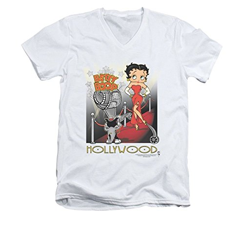 Sons of Gotham Betty Boop Hollywood Adult V-neck T-shirt Xl