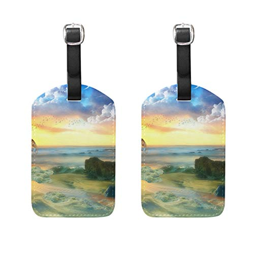 Luggage Tags Fantasy Love Angel Boy Womens Baggage Tag Holder Airplane Travel Accessories Set of 2