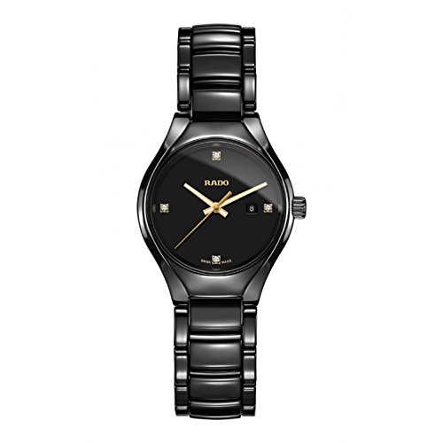 Rado-R27059712-True-Ceramic-Ladies-Watch-Black-Dial